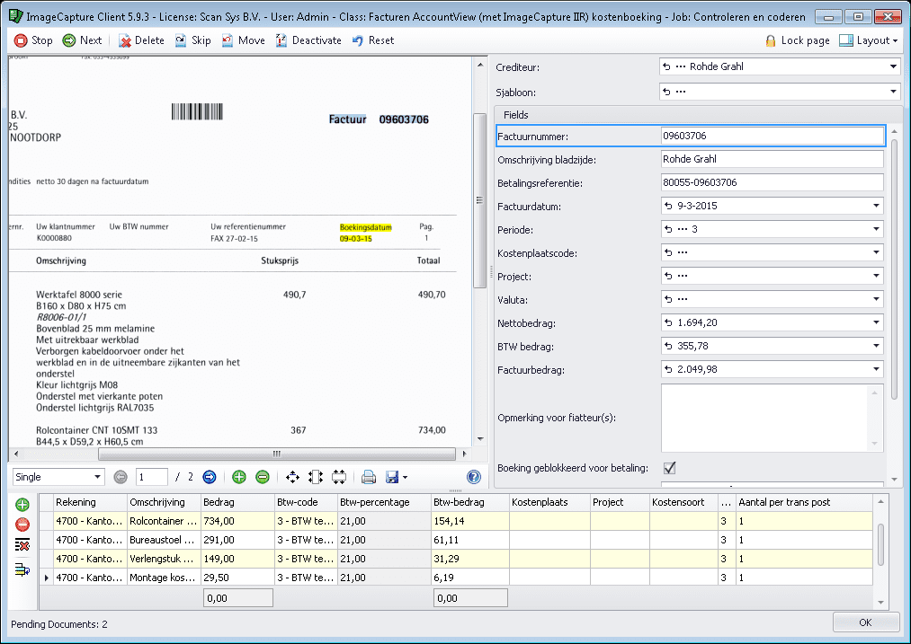 Geautomatiseerde factuurverwerking, ImageCapture for Invoices en