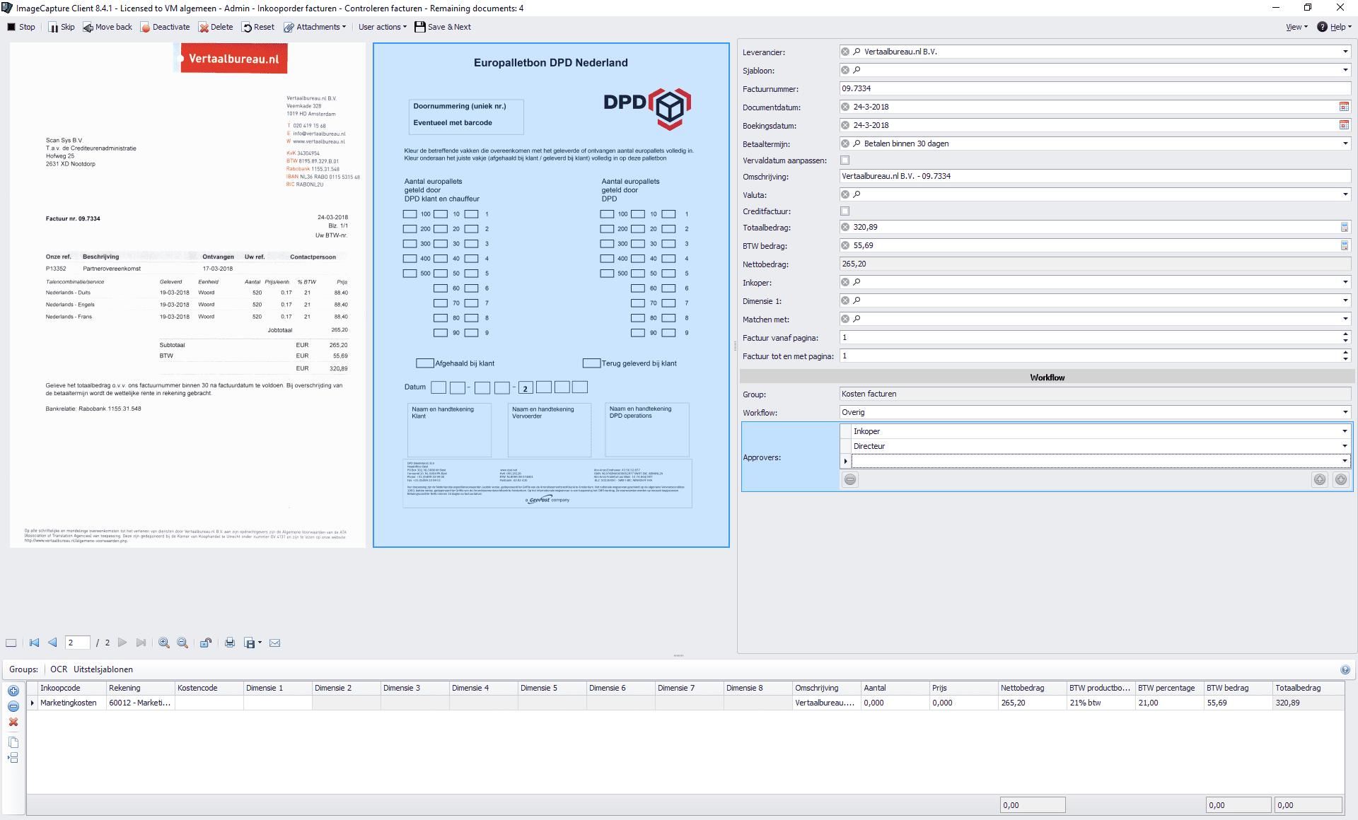 Factuurverwerking met Dynamics NAV en ImageCapture